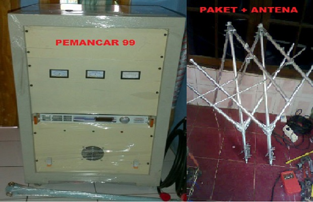 Paket pemancar siap on air